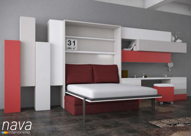 cama-abatible-sofa-abierta