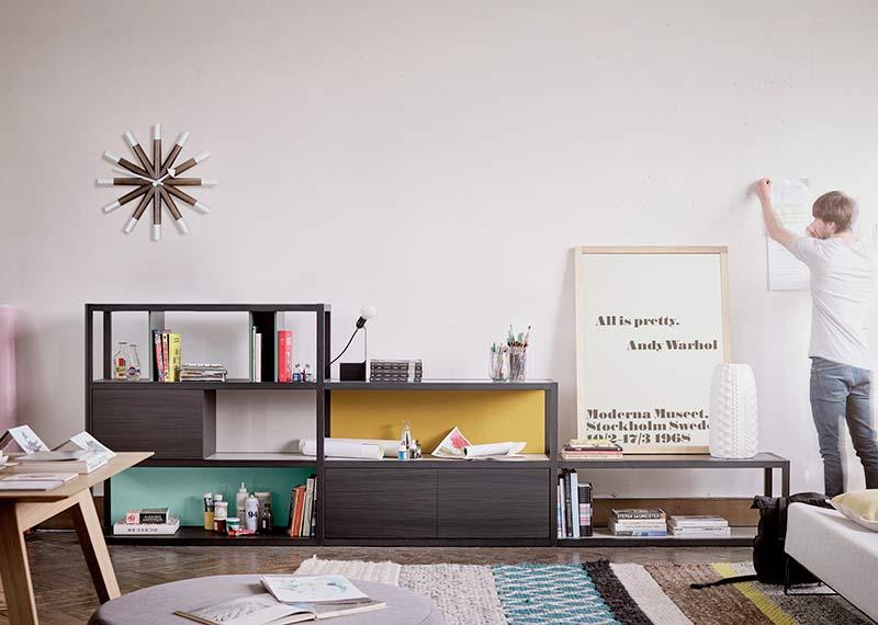Librerías estanterias modulos hogar interiorismo